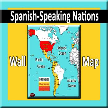 Spanish-Speaking World Wall Map