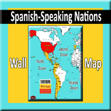 Spanish-Speaking World Wall Map