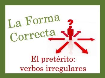 Spanish Preterite (Irregular) Speaking and Writing Powerpoint Activity