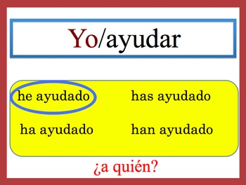 Spanish Present Perfect Speaking and Writing Powerpoint Activity