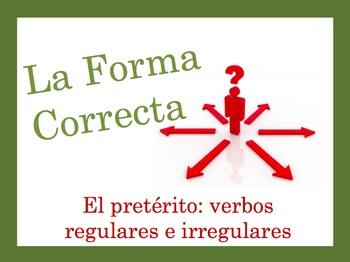 Spanish Preterite (Regular + Irregular) Speaking and Writing Powerpoint Activity