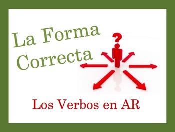 Spanish Regular AR Verbs Speaking and Writing Powerpoint Activity