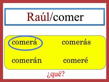 Spanish Simple Future (Regular) Speaking and Writing Powerpoint Activity
