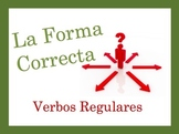 Spanish Regular Verbs (AR, ER, IR) Speaking and Writing Powerpoint Activity
