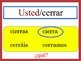 Spanish Steming-Change Verbs Speaking and Writing Powerpoint Activity