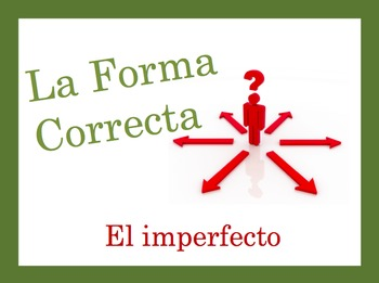 Spanish Imperfect Speaking and Writing Powerpoint Activity