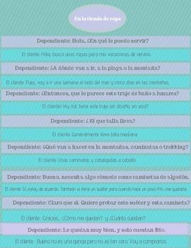 Spanish Speaking and reading practice conversation Bundle Level 1