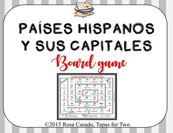 Spanish Speaking countries and capitals. Paises hispanos y