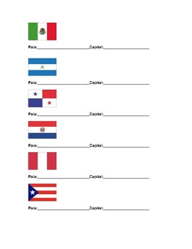 Spanish Speaking countries/capitals/flags