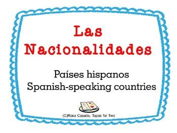Spanish Speaking countries nationalities capitals paises h