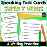 Spanish Speaking task cards for Super 7 verbs   Digital