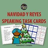 Spanish Speaking task cards for Christmas and Reyes Magos