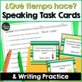 Spanish Speaking task cards for Weather   Digital