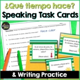 Spanish Speaking task cards for Weather