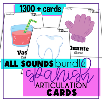 Spanish Speech Therapy Articulation Cards All Cards Bundle