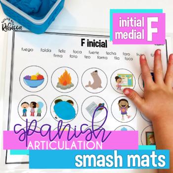 Spanish Speech Therapy Articulation F Smash Mats