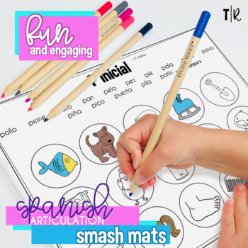 Spanish Speech Therapy Articulation P Smash Mats