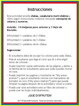 Syllable Segmentation & Awareness (Spanish Version)