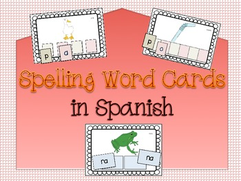 Spanish Spelling Cards (Letters/Syllables)