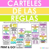 Spanish Spelling, Plural, Punctuation, and Grammar Posters!