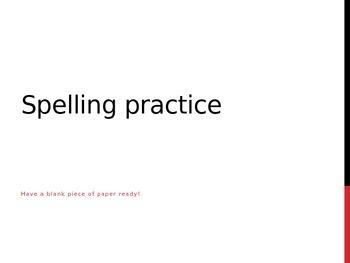 Spanish Spelling Practice