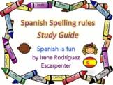 Spanish Spelling Rules Study Guide - Reglas de Ortografía