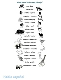 Spanish Spelling Worksheet 20 words Wild animals Animales