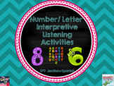 Spanish Spelling and Number Interpretive Listening Practice