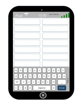 Spanish Spelling and Word Work I-Pad