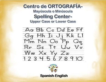 Spanish Spelling / Ortografia Upper & Lower Case in a Station / Center Activity