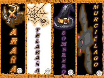 Spanish: Spooky Halloween Bookmarks