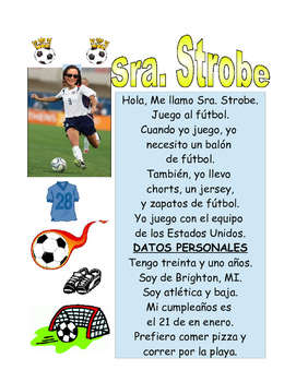 Spanish Sport's Card Project - Proyecto de tarjeta de deporte