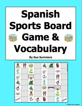 Spanish Sports Board Game and Vocabulary