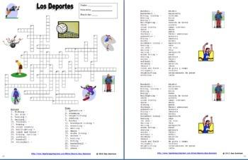 Spanish Sports Bundle - Vocabulary, Practice, Skits, Quiz, Pair Work, and More!