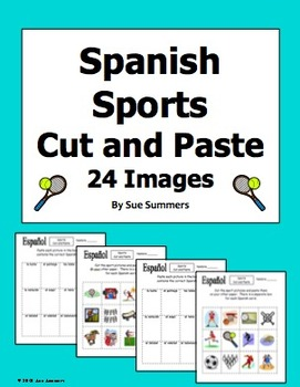 Spanish Sports Cut and Paste / Game Cards / Flashcards
