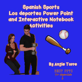 Spanish Sports Los deportes Power Point and Interactive Notebook Activities