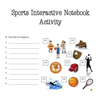 Spanish Sports Los deportes Power Point and Curriculum