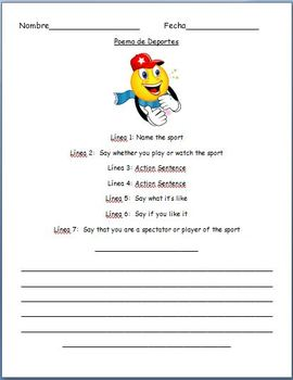 Spanish - Sports Poem