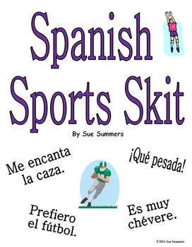 Spanish Sports Skit / Role Play / Dialogue - Gustar & Encantar