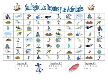 Spanish Sports  Speaking and Writing  Activity (Naufragio)