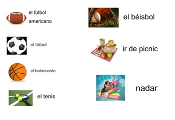 Spanish Sports / Summer Activities Lesson