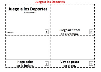 Spanish Sports Vocabulary 2 Early Reader Booklets