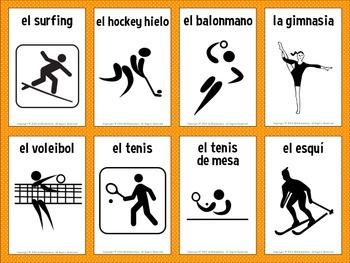 Spanish Sports Vocabulary Flashcards
