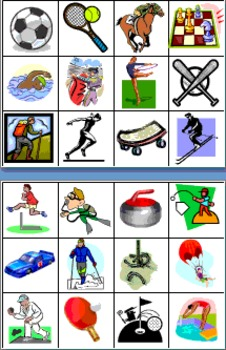 Spanish Sports Vocabulary Game Cards & Flashcards - Los Deportes