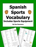 Spanish Sports Vocabulary Reference - Los Deportes