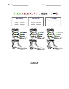Spanish Sports Vocabulary and Stem Changing Verbs