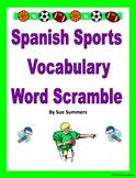 Spanish Sports Word Scramble - Los Deportes