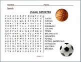 Spanish - Sports Word Search