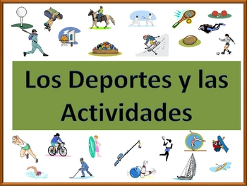 Spanish Sports and Activities Powerpoint (Activities and Games)
