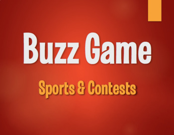Spanish Sports and Contests Buzz Game